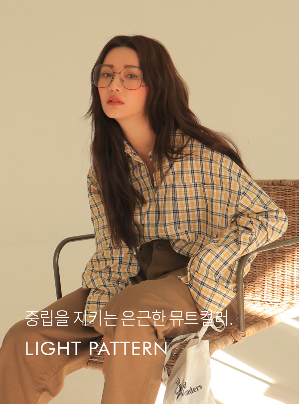 Homey check boxy fit shirt