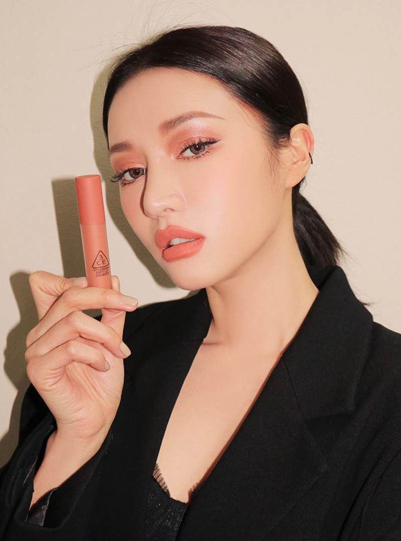 3CE SOFT LIP LACQUER #PEACH TEA